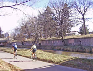 Bicycles on Cherry Creek bike path