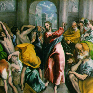 Jesus in the temple (Greco)