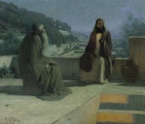 Jesus and Nicodemus (H. O. Tanner)