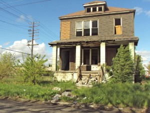 Detroit - abandoned house - Delray