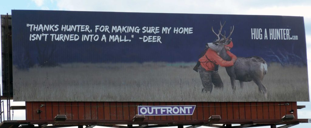 Billboard hunter deer